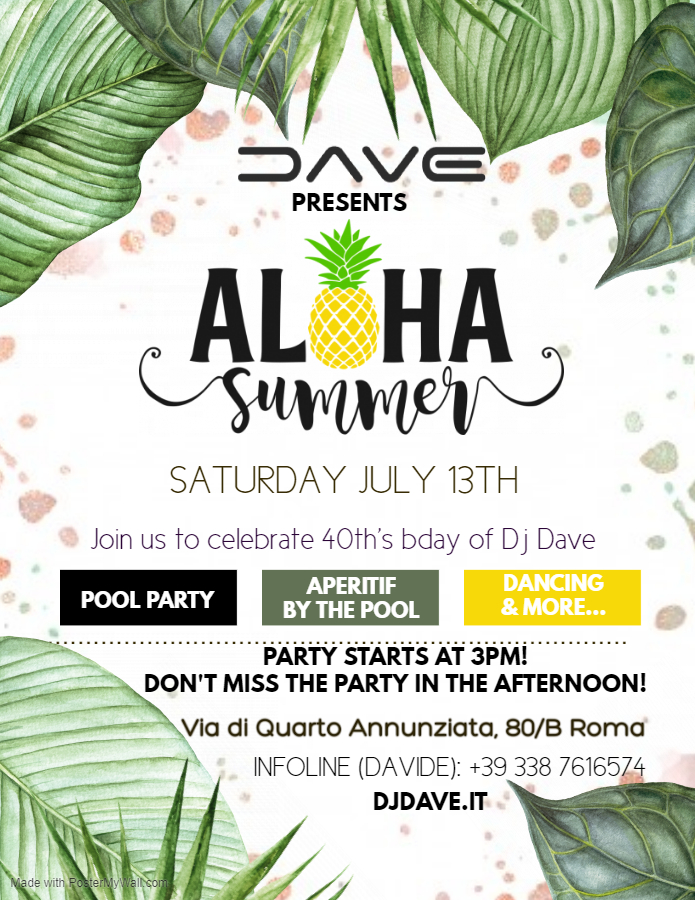 Aloha summer party